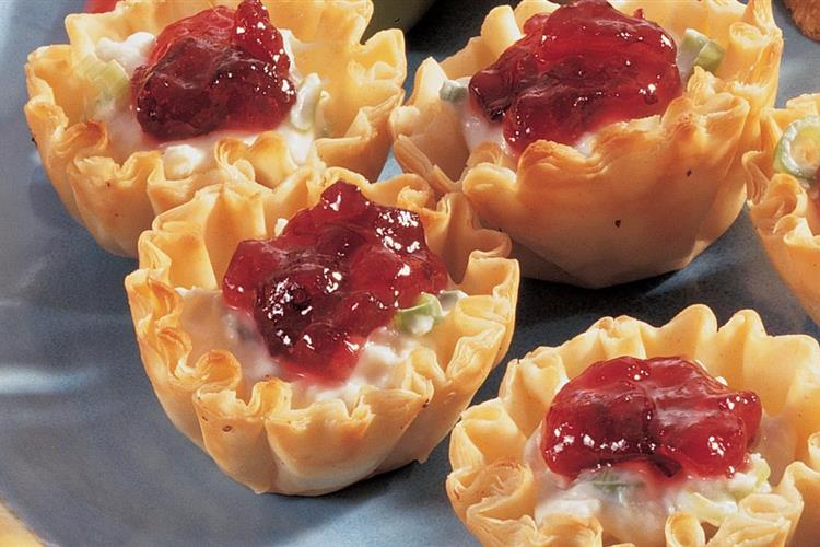 Cranberry, Crab Meat and Cream Cheese Appetizers